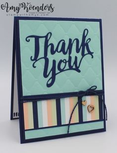 Stampin' Up! A Big Thank You CAS Card – Stamp With Amy K