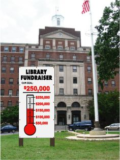 Outdoor and Indoor single use goal thermometer chart for fundraising and achieving any goal. Goal Thermometer, Fundraiser Thermometer, Outdoor Signs, Indoor Outdoor, Nonprofit Fundraising, Fundraising Ideas, Chart School, Friends Of The Library, School Fair