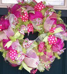 Beautiful Summer Deco Mesh Wreath