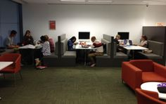Ryde Library - Media Booth Seating - I like the comfortable seating in the form of booths. IF