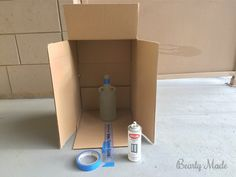 """This post is about a """"Bottle of Boos"""" I created for Halloween. This post covers how to drill the hole, frost the glass, and install the lights. Potion Bottle, Bottle Lights, Halloween Crafts, Bottles, Home Appliances, Glass, Diy, House Appliances, Drinkware"""