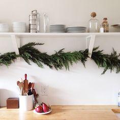 christmasy kitchen.