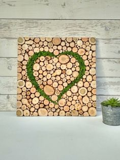 Cork Crafts, Wooden Crafts, Recycled Crafts, Moss Wall Art, Moss Art, Art Decor, Decoration, Vertical Garden Wall, Minimalist Garden
