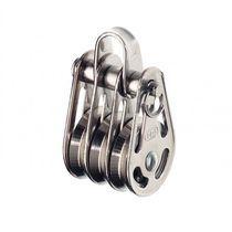 Polea con rodamiento de bola / triple / con cabecera fija / diámetro máx. del cabo: 4 mm
