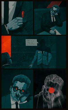 Artificio Conceal on Behance / story: Ayoub Qanir, illustrations: Patryk Hardziej