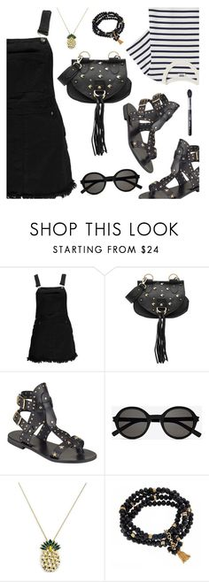 Outfit of the Day by dressedbyrose on Polyvore featuring Boohoo, Somerset by Alice Temperley, See by Chloé, Anton Heunis, Fornash, Yves Saint Laurent, Sigma, ootd and polyvoreeditorial
