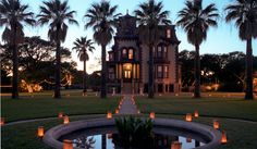 a beautiful shot of the Mansion lights and luminaries.