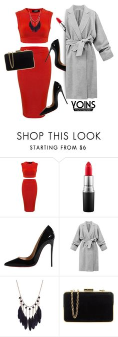 """yoins"" by elly-852 ❤ liked on Polyvore featuring мода, MAC Cosmetics, Christian Louboutin и MICHAEL Michael Kors"