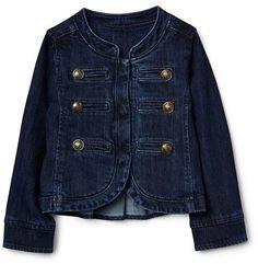 Denim band jacket #gap #girlfashion #afflink