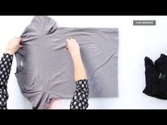 How to Fold a T-Shirt Perfectly Every Time | Fashion How To - YouTube
