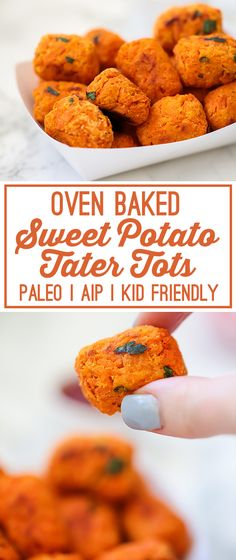 Baked Sweet Potato Tater Tots (Paleo, AIP, Kid Friendly) - Unbound Wellness