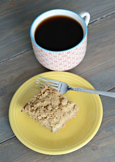 It's Friday! It's Friday!  Who's pumped for the weekend?  We're supposed to  have some stellar weather tomorrow. I can't wait!  There is hope for Iowa  after all.  Today I'd like to share with you our favorite coffee cake recipe.  We call  it Extra Crumble Coffee cake.  Because it has extra crumble.  We're also  clever.