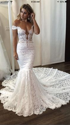 Looking for plus size wedding dresses in Lace Mermaid Sleeveless styles, and hope to custom made Zipper Lace bridal dresses in affordable price? Newarrivaldress covers all on this elegant Latest Lace Off The Shoulder Sexy Wedding Dresses Boho Wedding Dress With Sleeves, Backless Lace Wedding Dress, Western Wedding Dresses, Lace Mermaid Wedding Dress, Sexy Wedding Dresses, Elegant Wedding Dress, Mermaid Dresses, Cheap Wedding Dress, Sexy Dresses