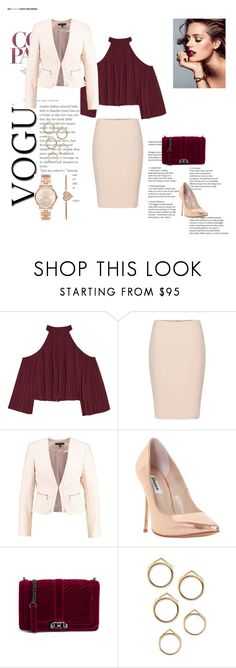 """burgundi"" by almedina-708 ❤ liked on Polyvore featuring W118 by Walter Baker, Dune, Rebecca Minkoff and Michael Kors"
