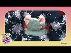 ミッキーマウスをイメージした「帯マウス」の結び方紹介 - YouTube