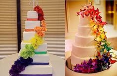 10 Amazing Rainbow Cakes for Your (Gay!) Wedding | Equally Wed - A gay and lesbian wedding magazine.