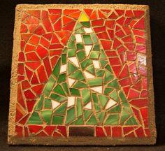 Christmas Tree Mosaic by AimESmith on Etsy, $30.00