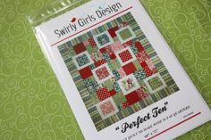 Swirly Girl, Perfect Ten Fat Quarter Quilt Sewing Pattern