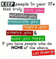 My New Years Resolution!!!  There is no room in your life for others that don't make you feel important to them!