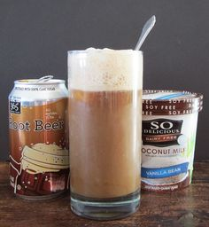 Dairy Free Root Beer Float - Ice Cream Sodas