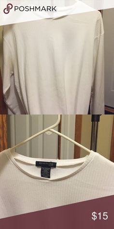 Long sleeve Kenneth Cole reaction shirt White shirt long sleeve XL Kenneth Cole Shirts Tees - Long Sleeve