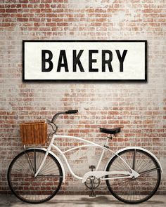 A vintage inspired Bakery sign is the perfect complement to your kitchen or dining room wall. Reminiscent of another era, my canvas signs are stretched by hand and have a gently aged feel with worn le