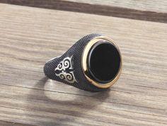 Men Ring 925 Silver,Natural Black Onyx Size 10-11-12 US Men's Gemstone Jewelry #IstanbulJewellery #Statement