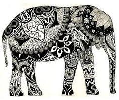 henna style elephant tattoo - Google Search