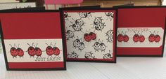 Hostess stamp set 'Love you Lots' has these little ladybirds, another cute stamp from Stampin'Up