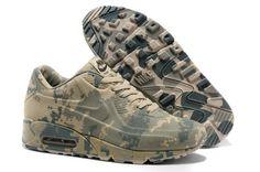 Nike Air Max 90 New Mens Shoes Camo Light Grey