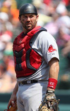 Boston Red Sox catcher Jason Varitek (33) by Keith Allison on Flickr