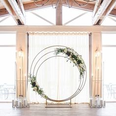 """Wedding Day Wouldn't you want to exchange vows under this circular arch? - It's so beautiful to see couples promise each other a lifetime of love under a well-styled wedding arch. It frames the epic moment perfectly, making the """"I do's"""" and the fir… Wedding Stage, Wedding Events, Wedding Ceremony, Wedding Day, Trendy Wedding, Garden Wedding, Wedding Arches, Wedding Tips, Wedding Trellis"""
