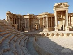 The Roman Theatre of Palmyra. >>> An unlikely BL entrant, given the state of unrest in this area these days. Roman Theatre, Expansion, Aleppo, Lost City, Concert Hall, Ancient Romans, Ancient Civilizations, Roman Empire, Damascus