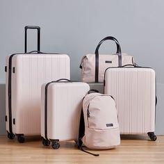 Luggage Sets Cute, Pink Luggage, Luggage Bags, Rimowa Luggage, Large Luggage, West Elm, Hard Sided Luggage, Bag Essentials, Cute Suitcases
