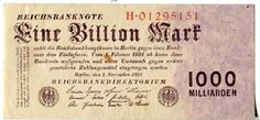 Banknotes - Germany - imperial and countries banknotes to Rosenberg - inflation 1919-1924 1 Trillion Mark, 1. 11. 1923 8 stellig set H. Rose...