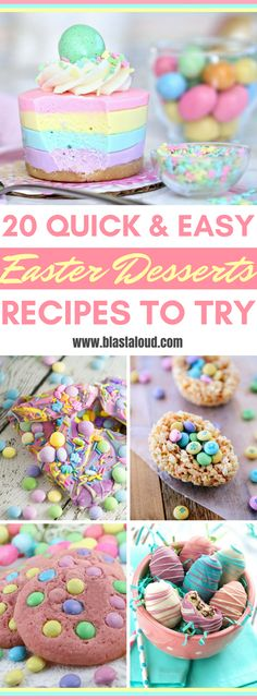 Delightful and easy Easter desserts recipes! Yummy Easter Treats Recipes! Great ideas for Easter desserts! #easter #easterdesserts #easterrecipes #easterdessertrecipes #eastertreats