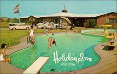Summertime, Poolside! Holiday Inn, Houston Texas 1960s