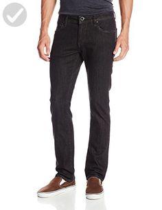 Volcom Men's Vorta Slim Fit Stretch Denim Jean, Black Rinser, 29X30 - Mens world (*Amazon Partner-Link)