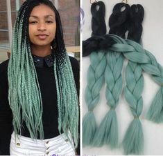 """7.99AUD - 1Pc 100G Black Blue Kanekalon Jumbo Braid Xpressions Braiding Hair Extension 24"""" #ebay #Fashion"""