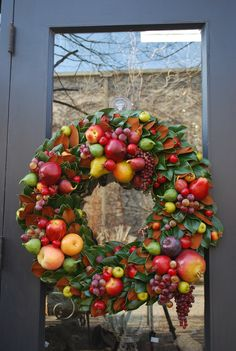 Thanksgiving harvest wreath
