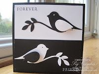 """By Peg Coombs. Uses the Stampin' Up """"Bird Builder"""" punch."""
