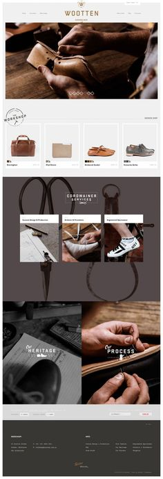 Wootten - Cordwainer and Leather Craftsmen - #Webdesign #inspiration www.niceoneilike.com