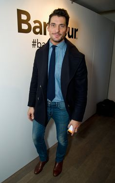David Gandy Looks Handsome At The 2016 London Collections Men Events - Socialite Life