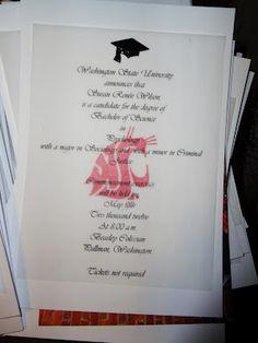 a joyous jumble diy graduation invitations - Homemade Graduation Invitations