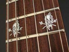 Hetfield SCARY GUY Vinyl ESP EX Guitar Decal Inlay Set
