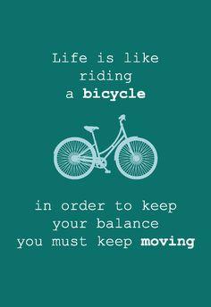 Wenskaart Life is like riding a bicycle Wenskaart inclusief witte envelop.