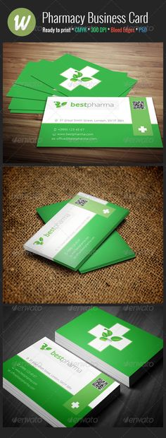 Pharmacy Business Card - Industry Specific Business Cards
