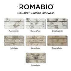 Bring an old-world European look to your home with Tropea Beige Limewash Interior/Exterior Paint by Romabio Classico. This interior/exterior slaked-lime paint is specially designed to produce unique white House Paint Exterior, Exterior Paint Colors, Exterior House Colors, Interior Exterior, White Wash Brick Exterior, Stained Brick Exterior, Building Exterior, Interior Trim, Whitewashing Exterior Brick