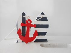 nautical nursery decor ***   navy striped fish by TheSeasideKids, $15.00