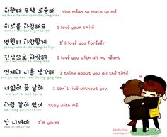 Image about text in Korean language Hangeul♥ by f e a r l e s s Korean Slang, Korean Phrases, Korean Quotes, Love Phrases, Korean Words Learning, Korean Language Learning, Learn To Speak Korean, Learn Hangul, Korean Writing